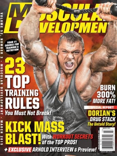 Muscular Development Magazine kansi